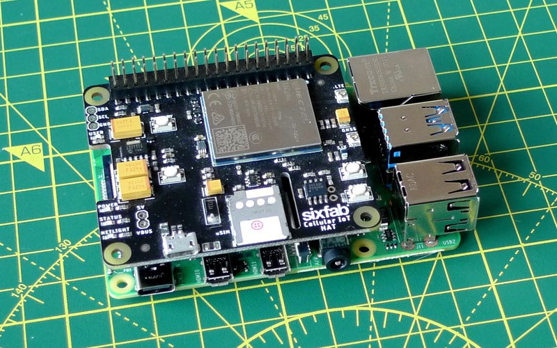 Insert the Super SIM into to Sixfab Cellular IoT Hat