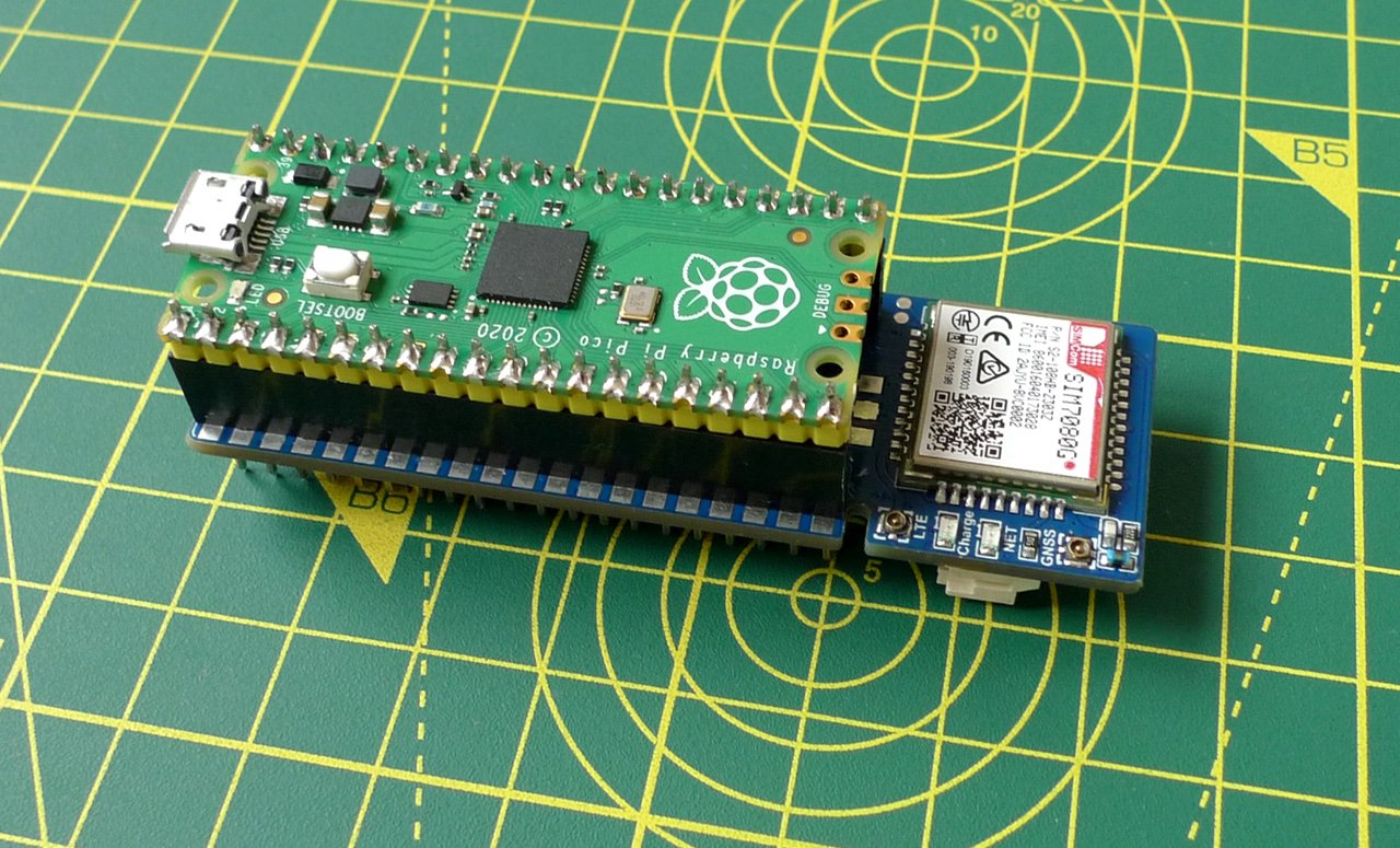 Raspberry Pi Pico and Waveshare Pico SIM7080G