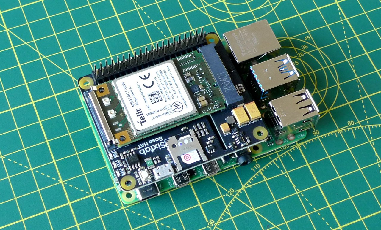 Fit the Base Hat onto the Pi GPIO pins