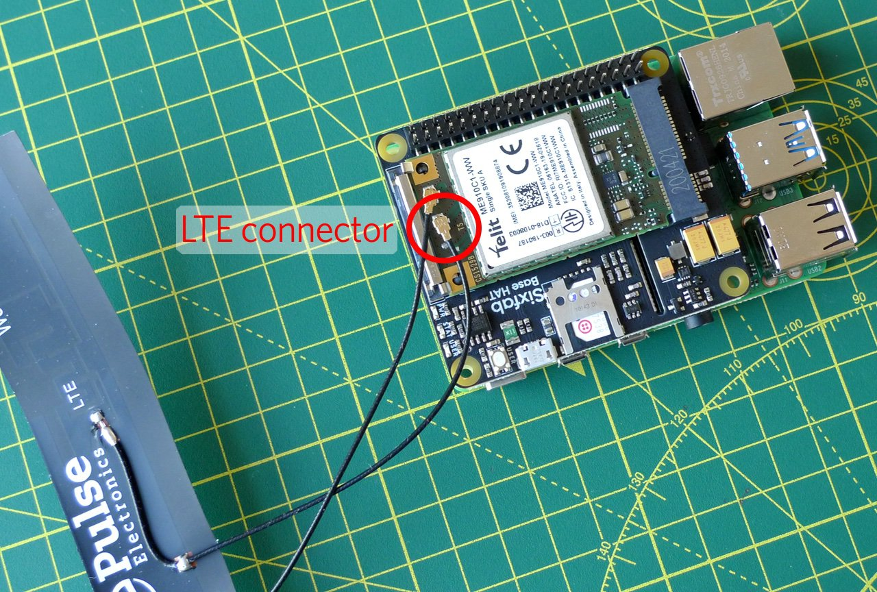 Connect the LTE antenna correctly