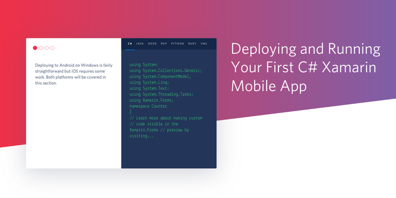 Deploying and Running Your First C# Xamarin Mobile App
