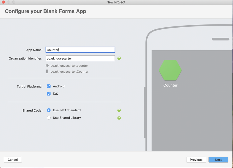 Configure blank forms app