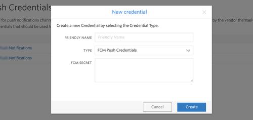 Add Push Credentials