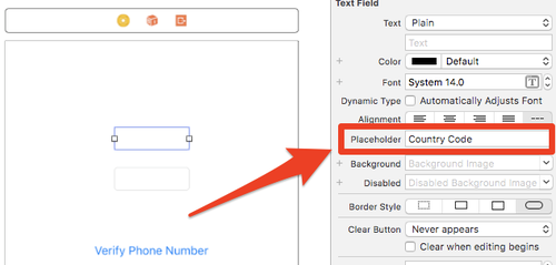 xcode placeholder
