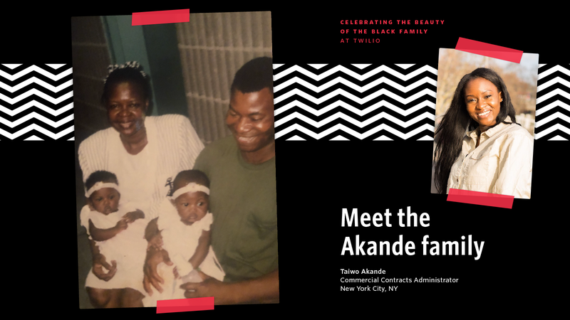 Picture of Taiwo Akande and her family