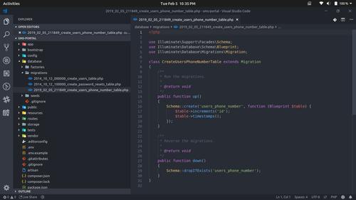 Pantalla de Visual Studio con ejemplo de código