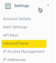SendGrid inbound parse setup