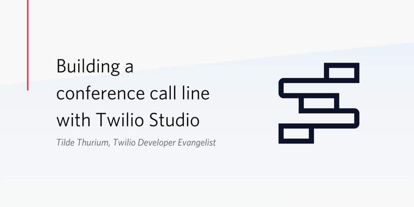 How to build a conference call line with Twilio Studio