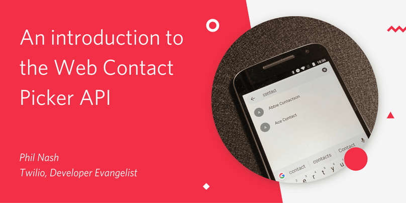 An introduction to the Web Contact Picker API