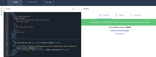 Sendgrid Dynamic Template Editor