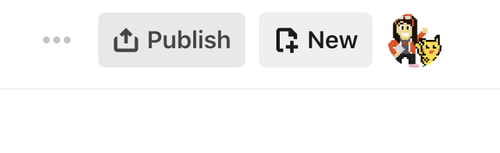 publish and new button