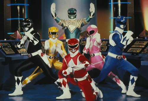Power Rangers striking a pose