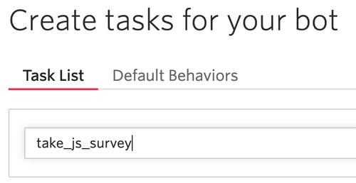 create task name