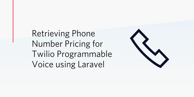 Retrieving Phone Number Pricing for Twilio Programmable Voice using Laravel