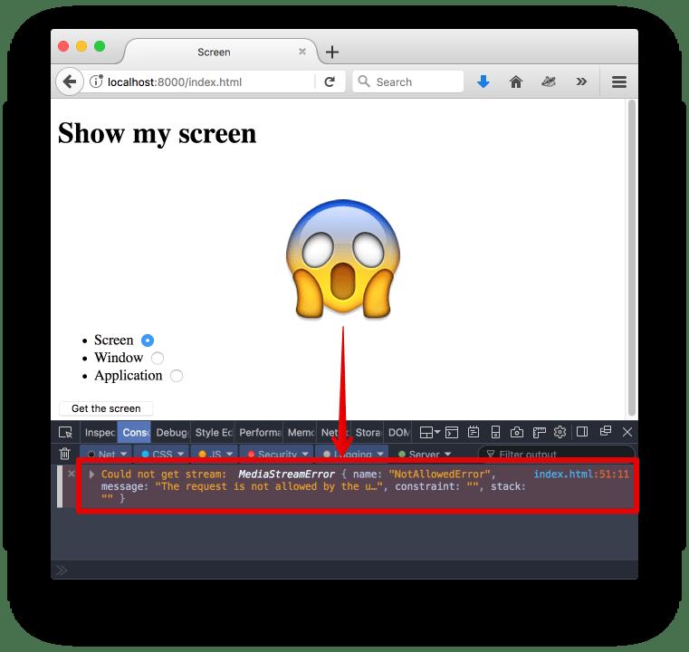 Screen Capture Firefox Error
