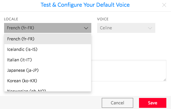 Change Default TTS Voice to French