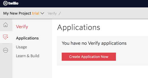 verify create application