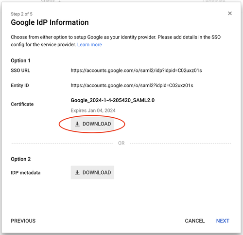 Google SAML App - 2