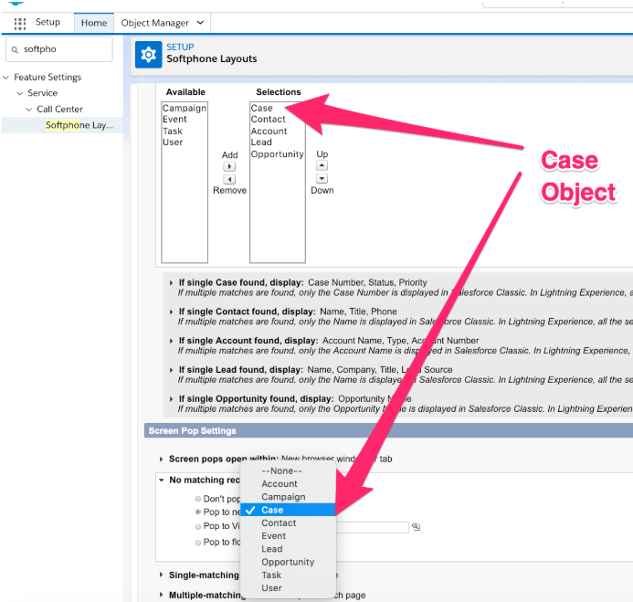Flex-Salesforce: Move Case object to top.