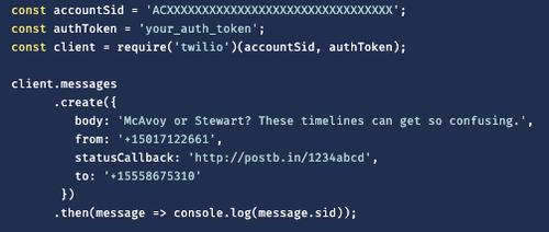 statusCallback URL