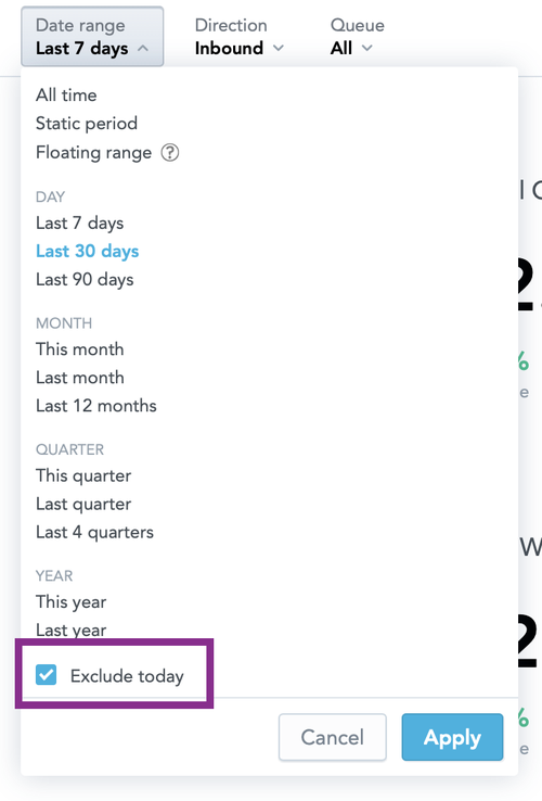 Date Filter - Exclude Today