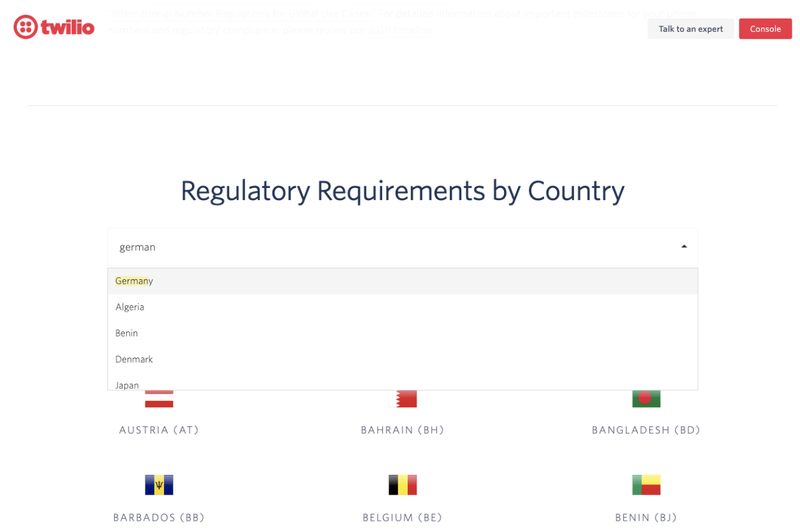 Twilio Regulatory Requirements
