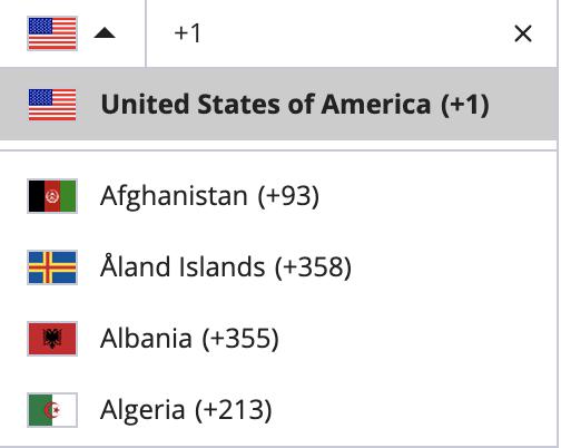 Dialpad Country List