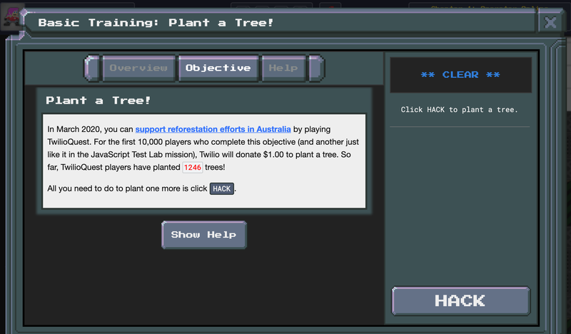 TwilioQuest Tree-planting chest