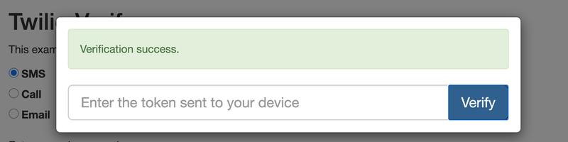 Successful verification