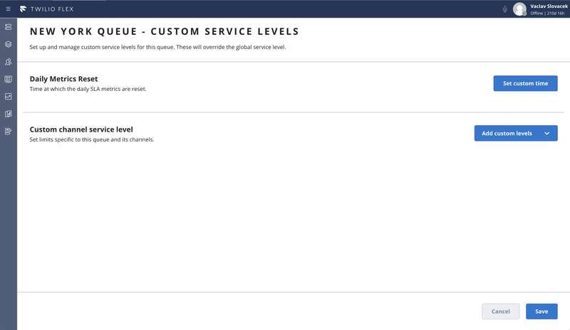 Queue Level Preferences - Default