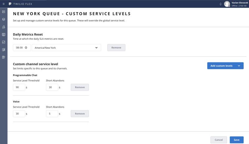 Service Level Preferences - Queue