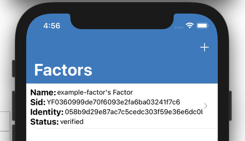 example factor in iOS application