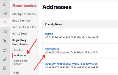 Address SID