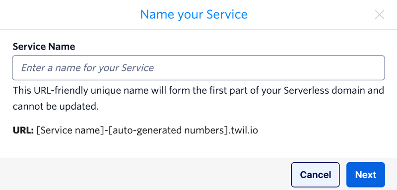 Name a new Service