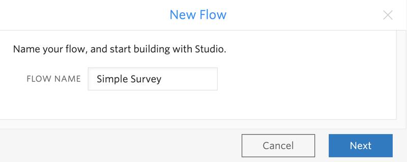 New Simple Survey Flow