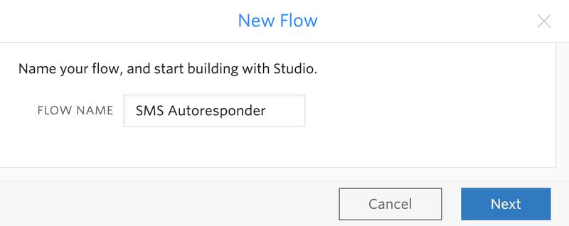 SMS Autoresponder Flow