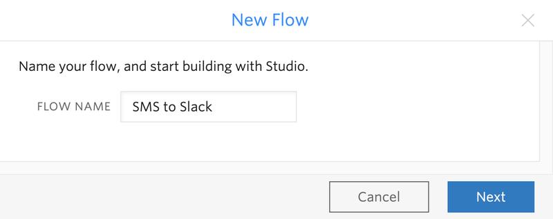 SMS to Slack Flow