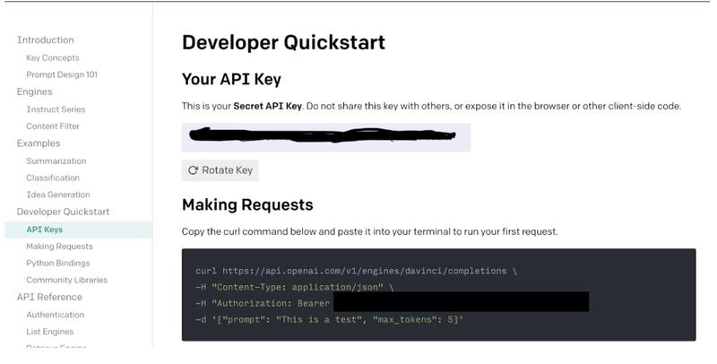 OpenAI API key
