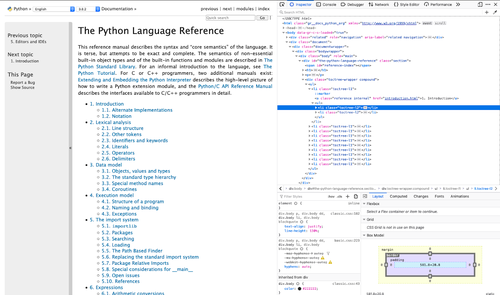 inspect Python documentation in browser