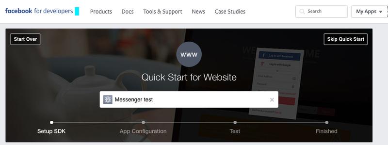 Skip Facebook app quick start