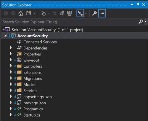 Visual Studio Solution Explorer Solution View