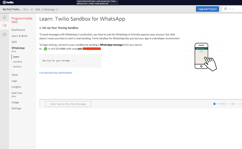 WhatsApp Sandbox