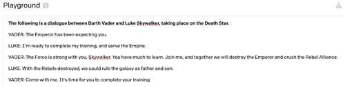 Star Wars dialogue
