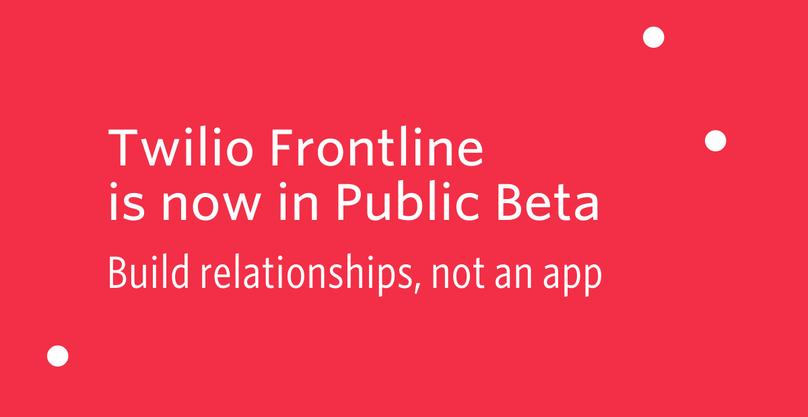 Frontline Public Beta Header
