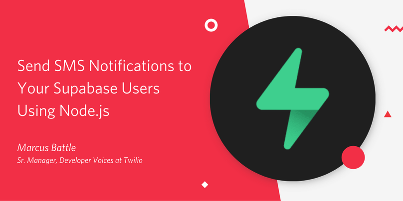 Send SMS Notifications to Your Supabase Users Using Node.js