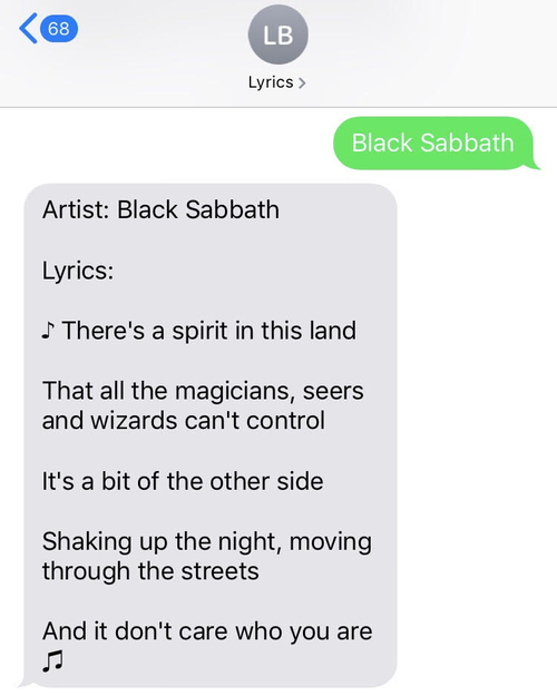 Computer-generated Black Sabbath lyrics