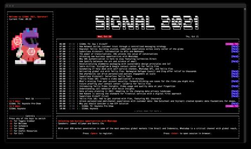 Screenshot of the schedule view in Developer Mode