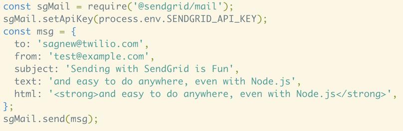 Senden von E-Mails in JavaScript/Node.js mit SendGrid
