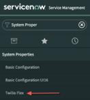 Pantalla ServiceNow para conectarse a Flex