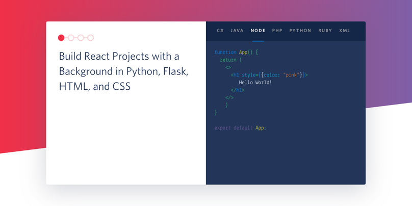 header - How to Pick Up React from a Python, Flask, and HTML Background